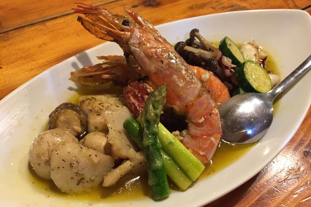 菜種油の海鮮アヒージョ