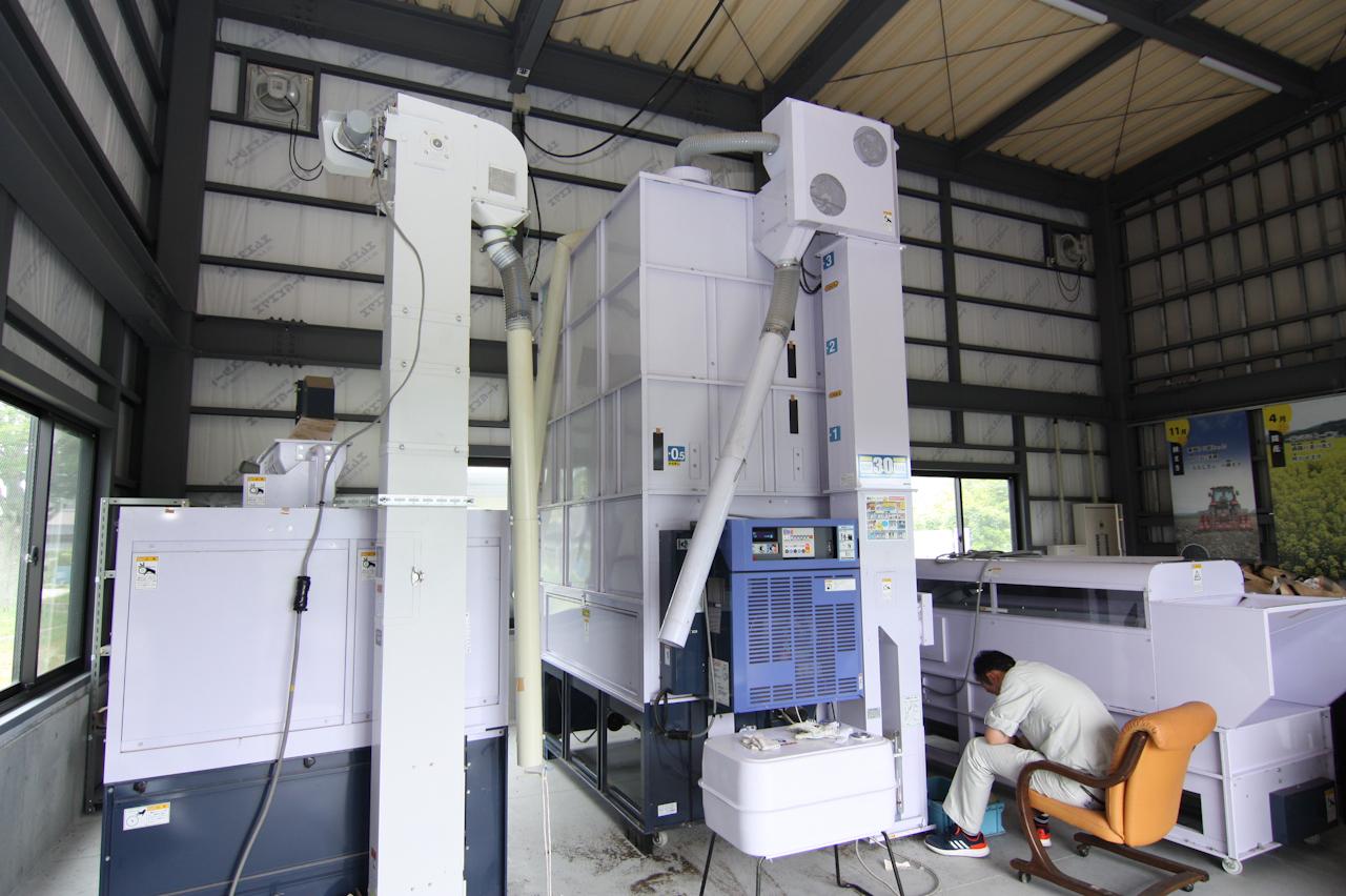 乾燥に使う機械たち